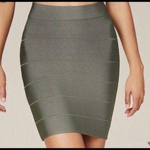 Bebe Olive Green Bandage Skirt